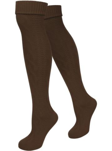 Normani Trachten-Kniestrümpfe in Braun