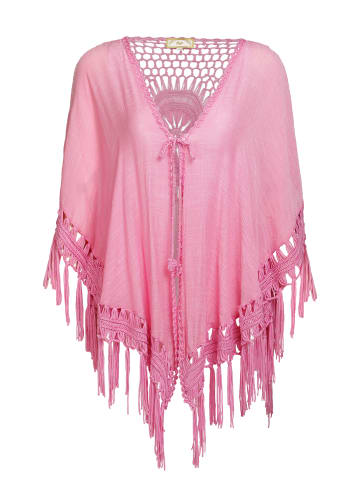 MyMo Poncho in Hellpink