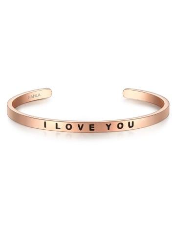 Nahla Jewels Armband I LOVE YOU Edelstahl in Roségold in roségold