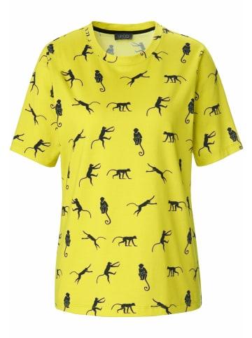 MYBC Shirt Rundhals-Shirt in limette/schwarz