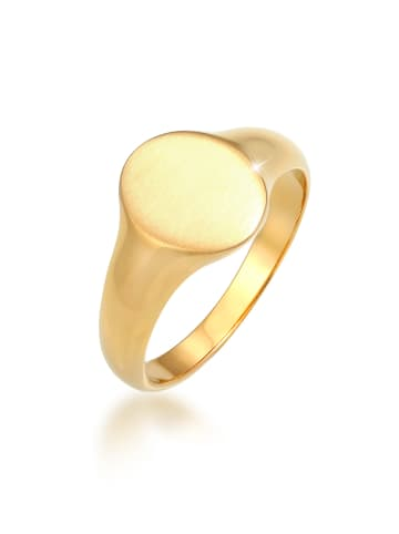 KUZZOI Ring 925 Sterling Silber Siegelring in Gold