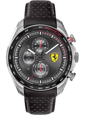 Scuderia Ferrari Chronograph Uhr 'Speedracer' in Schwarz/Schwarz