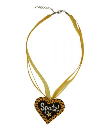 Edelnice Halskette Spatzl in gelb