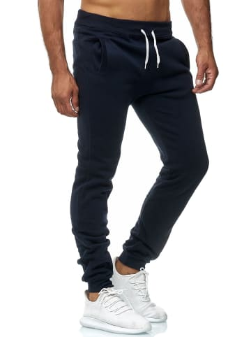 EGOMAXX Jogging Hose Fit Home Sweat Pants leichte Sporthose Vers1 in Navy