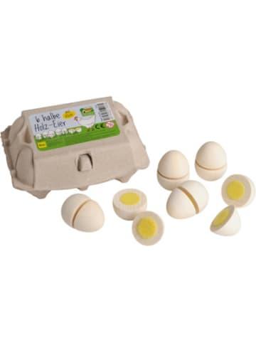 Erzi Ei zum Schneiden (6 Stück; weiß) Spiellebensmittel