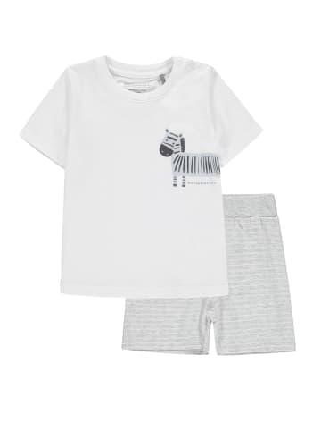 Bellybutton Schlafanzug 2tlg. T-Shirt, Shorts Zebra und Feuerwehr in burgaz melange