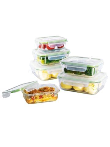 "Gourmetmaxx 12tlg. Set: Glas-Frischhaltedosen ""Klick-it"""