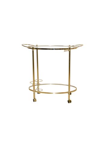 Möbel-direkt Servierwagen Klara in gold