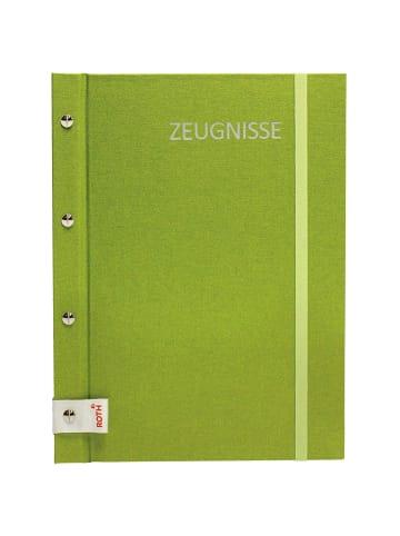 ROTH Zeugnismappe Metallium mit Buchschrauben Green