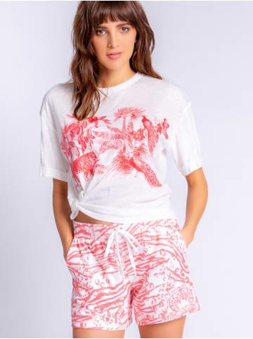 P.J. Salvage Pyjamashorts Cozy Casual in Weiß