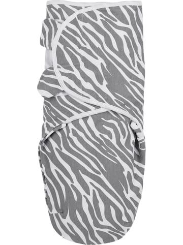 Meyco Einschlagdecke Swaddle Zebra, 0 - 3 Monate, grau