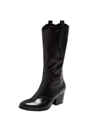 FELIPA Cowboy Boots in Schwarz