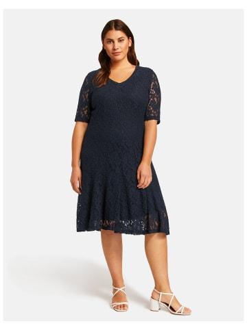 SAMOON Kleid Gewirke in Blau