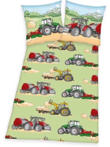 Herding Kinderbettwäsche Trecker, 135 x 200 cm