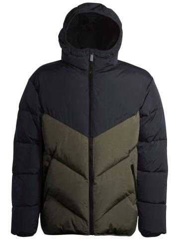 MAZINE Winterjacke Duns Puffer Jacket in black/black olive