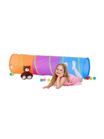 Relaxdays Spieltunnel Kinder in Bunt