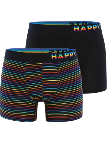 Happy Shorts Boxershorts Trunks #2 in Schwarz/Bunt