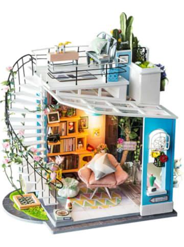 Robotime Dora's Loft - 3D-Holzpuzzle Miniaturhaus-Bastelset, 171 Teile