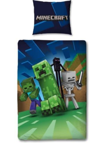 Character World Minecraft Bettwäsche Set, 135 x 200 + 80 x 80 cm