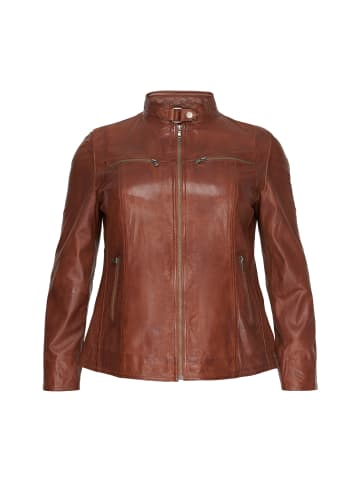 NO.1 by OX Bikerjacke Olivia in dark cognac