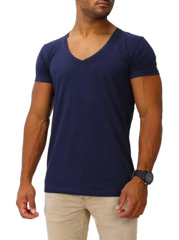 Joe Franks Joe Franks Joe Franks Herren Basic T-Shirts V-Neck DEEP in navy