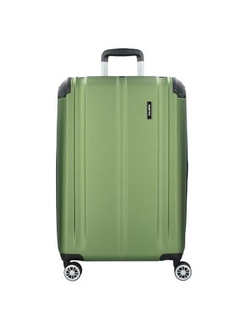 Travelite City 4-Rollen Trolley L 77 cm in grün