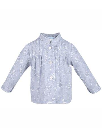 4nenes Bluse gemustert in Hellblau
