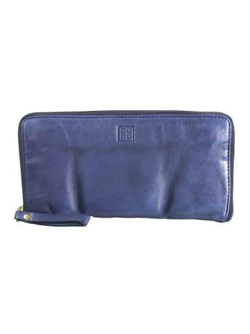 DuDu Geldbörse Leder 19,5 cm in indigo blue