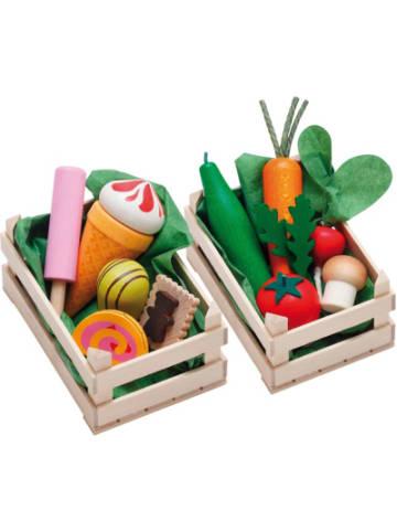 Erzi Exklusiv Set Sortimente Gemüse + Süßwaren