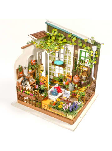 Robotime Miller's Garden - 3D-Holzpuzzle Miniaturhaus-Bastelset, 210 Teile