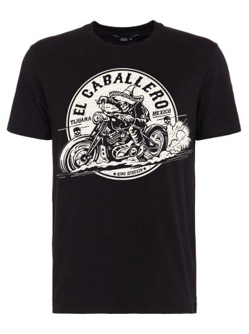 King Kerosin King Kerosin KING KEROSIN T-Shirt mit Front Print El Caballero in schwarz