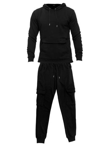 Tom Barron Jogginganzug mit Taschen in schwarz