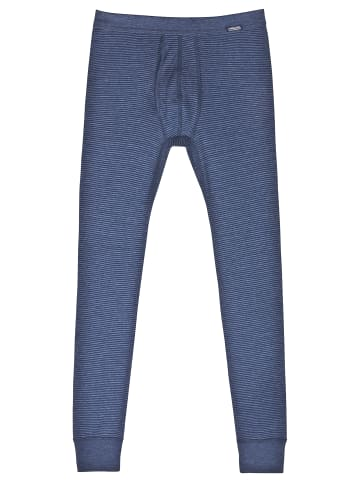 Ammann Unterhose lang mit Eingriff Jeans in Blau