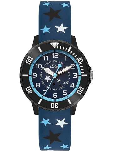 S.Oliver Time Armbanduhr SO-3407-PQ in blau