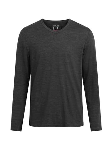 Shirts for Life Longsleeve Marvin Merino in anthrazit