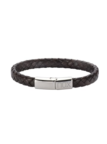 NOX Armbänder Edelstahl in dunkelbraun