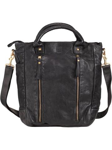 DuDu Handtasche Leder 31 cm in black slate