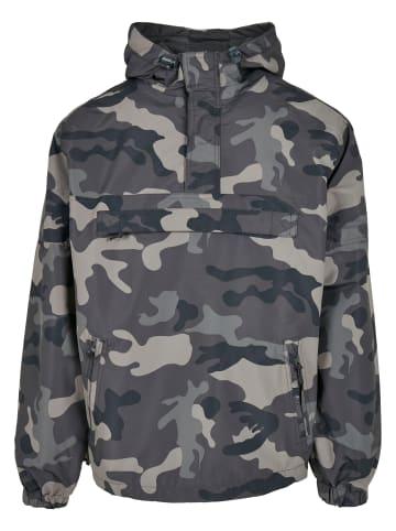 Brandit Windbreaker Pull Over Jacke in grey camouflage