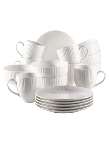 Mäser Dalia Frühstücksset, Porzellan in weiß