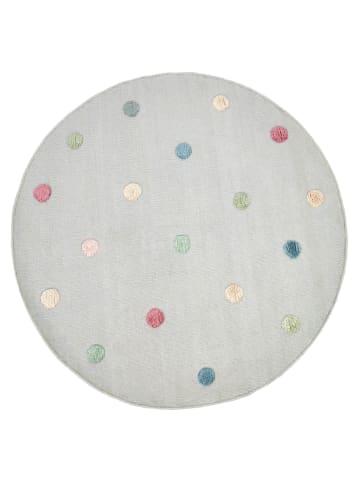 Livone Handwebteppich COLORMOON grau/multi rund
