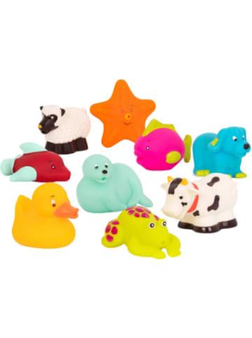 B.toys Badetiere 9-tlg. Set : Fisch, Robbe, Ente, Seestern, Frosch, Delphin,...