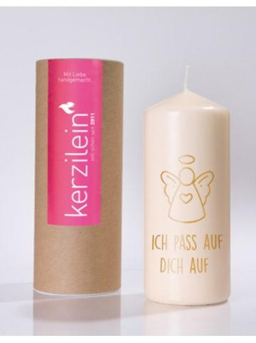 """Kerzilein Kerze """"Schutzengel - Ich pass auf dich auf"""", H19 x Ø8 cm"""