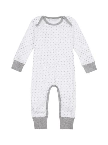 "Sense Organics Organic Baby Strampler ""Wayan"" in Weiß-Grau"