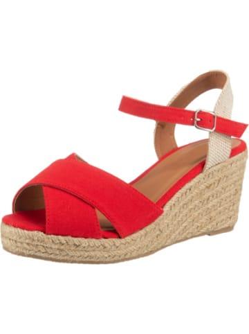 Ambellis Peeptoe-Sandalette mit Keilabsatz