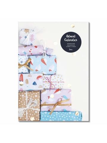 Julica Adventskalender Geschenkpapier in Bunt - inkl. DIY Geschenkanhänger