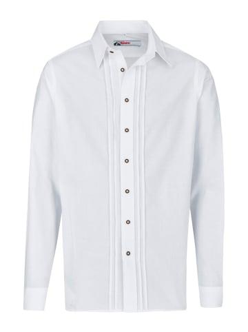Alphorn Trachtenhemd in weiß