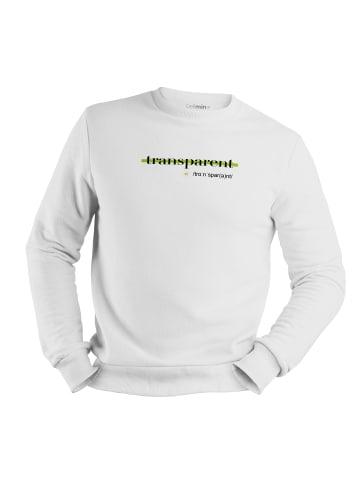 Mamino Herren Sweatshirt -transparent in weiss
