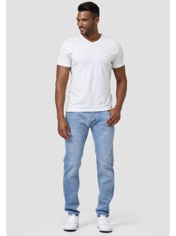 Giani5 Jeans Denim Stretch Hose Pants Knopfe in Blau