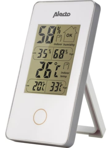 Alecto WS-75 - Digitales Innenthermometer, weiß