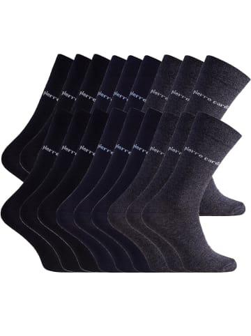Pierre Cardin Socken 6 Paar in Schwarz, 6 Paar in Anthrazit, 6 Paar in Dunkelblau